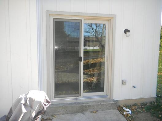 almond / beige patio door