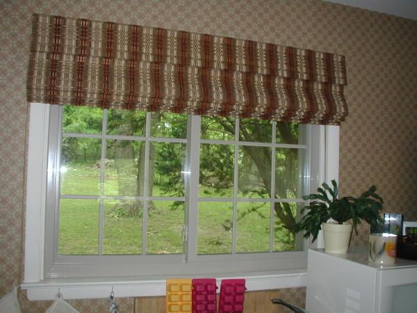 almond window with white trim