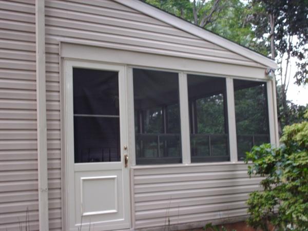 Exterior view of door wall completed