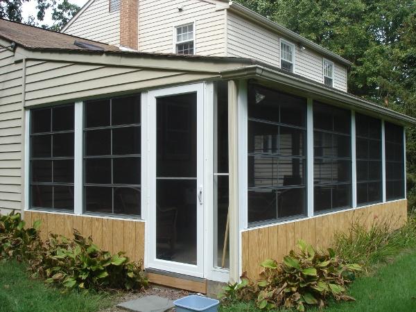 the new summer hangout patio enclosure