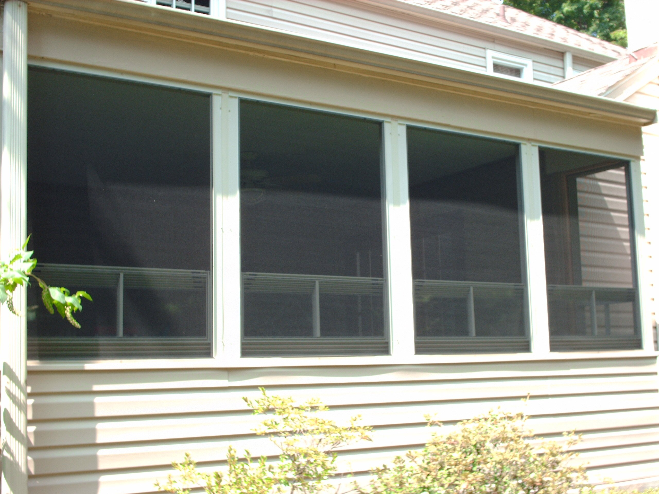 Exterior of side wall with new siding
