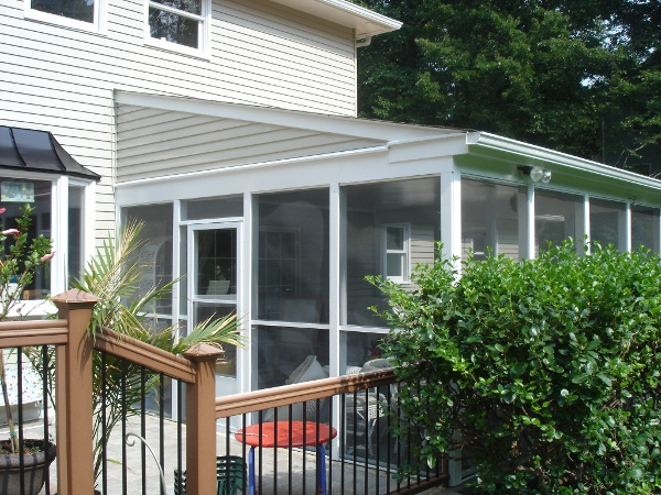 before pictue of screened in porch renovation