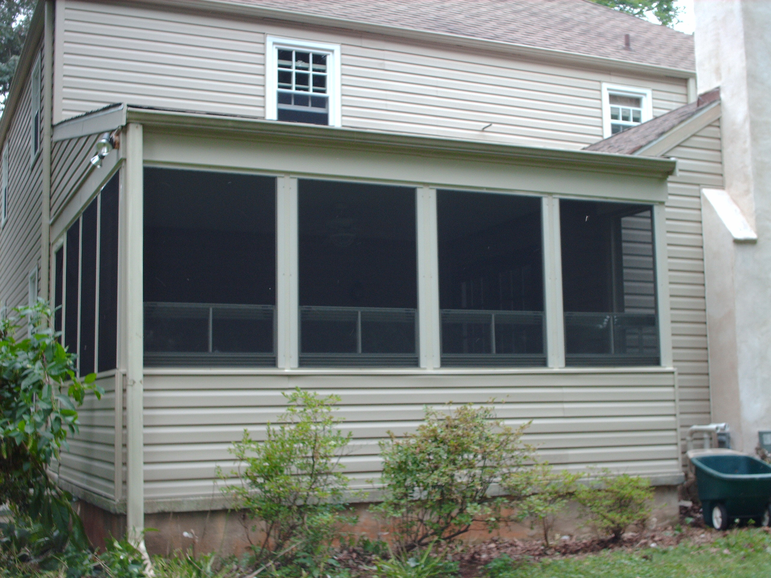 Completed exterior of side wall