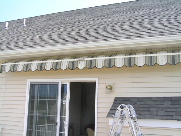 after installing motorized retractable awning